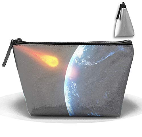 jiajufushi Makeup Bag/Toiletry Bag/Toilet Bag/Jewelry Storage Bag Portable (Giant Asteroid to Pass Earth in Time for Halloween) -