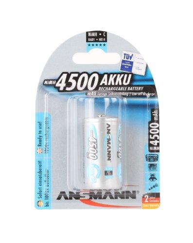 Ansmann 5030632 maxE Baby C Akku 4500mAh (1er Pack) vorgeladene ready2use NiMH Power Akkubatterie Babyzelle mit geringer Selbstentladung