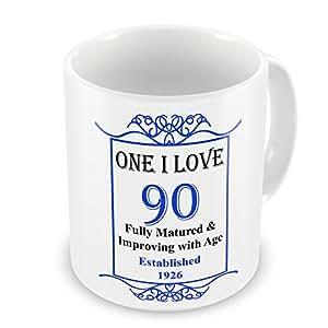 One I Love 90th cumpleaños establecido 1926años–taza azul