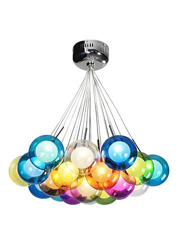 Jj modern led pendant lights fixture bubble globe colored glass jj modern led pendant lights fixture bubble globe colored glass pendant light with 19 lights mozeypictures