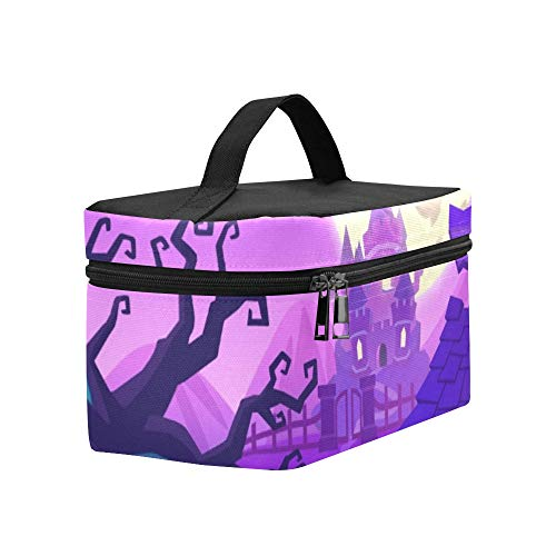 Creative Innovative Art Halloween Town Lunch Box Tote Bag Lunch Holder Insulated Lunch Cooler Bag For Women/men/picnic/boating/beach/fishing/school/work -