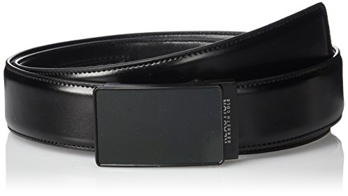 Kenneth Cole Reaction Leather Reversible Belt - Kenneth Cole REACTION Men's Perfect Fit Adjustable Click Belt with Plaque Buckle,black,Medium