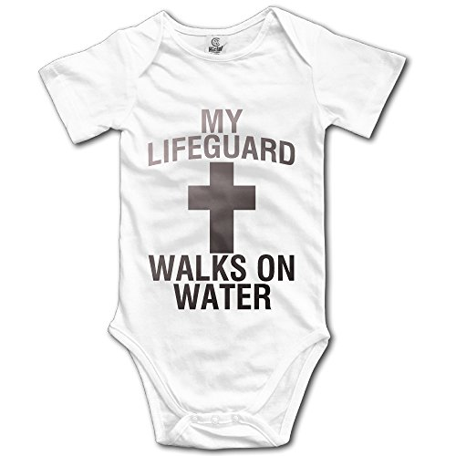 Ftyerer Cotton Baby Onesie My Lifeguard Walks On Water Climb Clothes