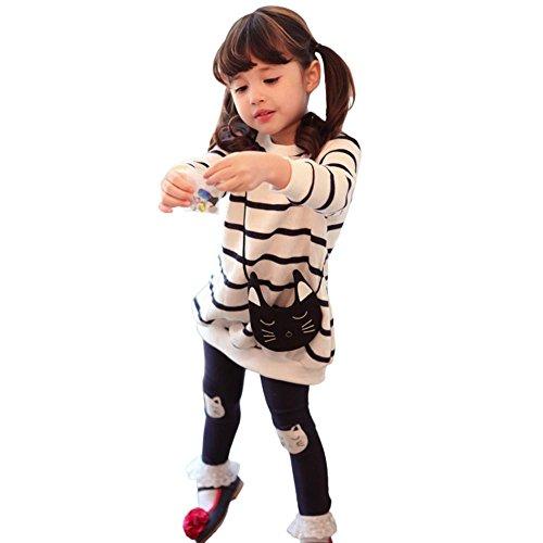 Lanpan Kids Girls Stripe Carto