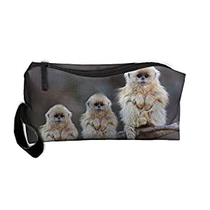 Lovely Monkey Baby Handy Storage Pouch Travel Makeup Bag Kit Organizer Sewing Medicine Pencil Case
