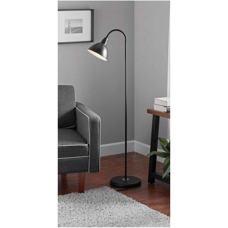 Mainstays Gooseneck Floor Lamp (Black)