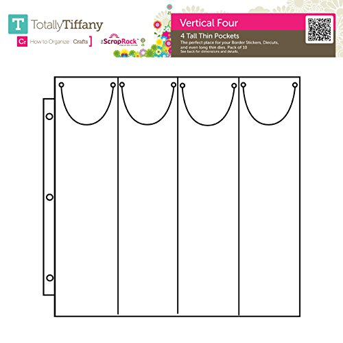Totally-Tiffany SRSP-P59 Scrap Rack Basic Storage Page, Vertical Quad, 10-Pack by Totally-Tiffany