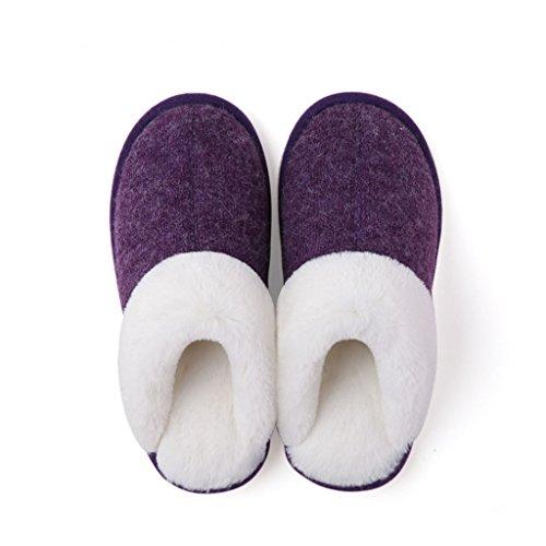 Zapatillas DWW Los Amantes de casa de Algodón Mujeres Invierno Interior Cálido Antideslizante Zapatos Gruesos Antideslizantes Pattern 5