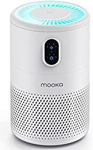MOOKA Air Purifier for Home Large Room up to 430ft2, H13 True HEPA Air Filter Cleaner, Odor Eliminator, Remove