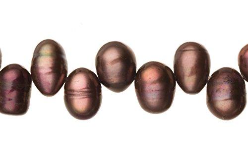 Dark Spectrum Purple Freshwater Cultured Pearls Natural Potato, B+ Graded, 7x8x10mm (Approx.), 15.5Inch Strings/61Pearls ()