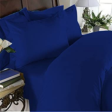 1500 Thread Count Egyptian Quality Duvet Cover Set, 3pc Luxury Soft, All Sizes & Colors, Full/Queen Royal Blue