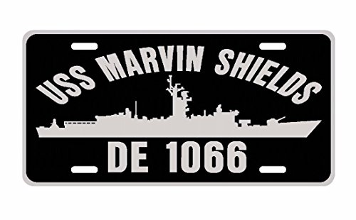 (C & K Distributing USS Marvin Shields DE 1066 License Plate Aluminum USN- This Item is Made in The USA by Veterans for Veterans NOT Made in China!- If This Item is not from Then it's not Made in th)