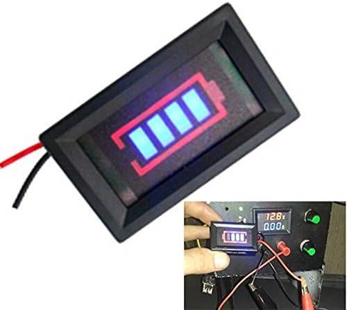 Blue 12V Lead Acid Battery Capacity Indicator Car Automotive Battery Power Display Board Tester Meter Voltmeter