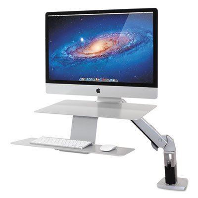 WorkFit-A Sit-Stand Workstation, For Apple iMac Monitor, Silver, Sold as 2 Each by Ergotron