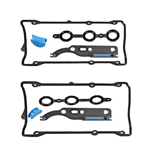 (Compatible for Audi Valve Cover Gasket with Cam Chain Tensioner for 1998-2004 Audi A4 A6 Quattro 2002-2004 Audi S4 S6 1997-1998 Audi Cabriolet 1998-2005 VW Passat V6 2.8L 058198217)