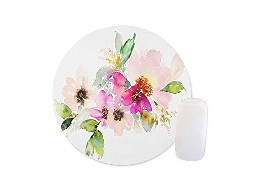 Beautiful watercolor flower Round Mouse pad Customized Non Slip Rubber Round Mouse pad Non Slip Rubber Mouse pad Gaming Mouse Pad (Pads Colormouse)
