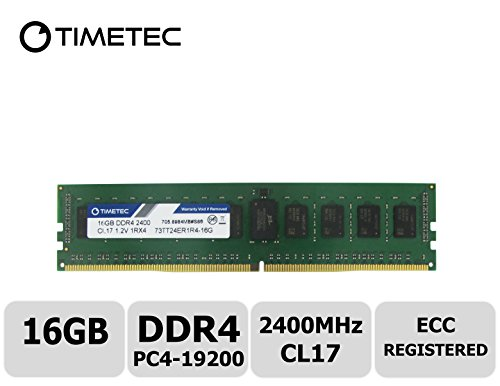 (Timetec Samsung IC 16GB DDR4 2400MHz PC4-19200 Registered ECC 1.2V CL17 1Rx4 Single Rank 288 Pin RDIMM Server Memory RAM Module Upgrade (16GB))