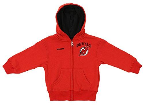 Reebok NHL Infant Toddler's Pledge Full Zip Hoodie, New Jersey Devils 4T
