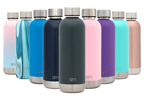 Simple Modern 17oz Bolt Sports Water Bottle - Stainless Steel - Double Wall Vacuum Insulated - Leak Proof Bottle -Graphite