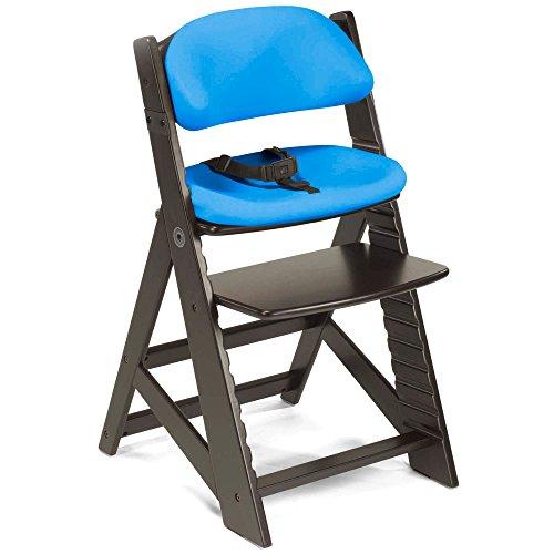 Keekaroo Height Right Kids Chair with Comfort Cushions - Aqua - Espresso - Cushion Comfort Keekaroo