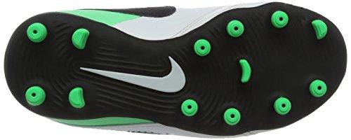 Nike Tiempo Rio Iii (V) Fg, Botas de Fútbol Unisex Niños Varios colores (White / Black / Electro Green)