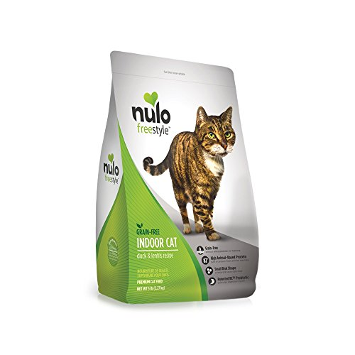 (Nulo Indoor Grain Free Dry Cat Food With Bc30 Probiotic (Duck & Lentils Recipe, 5Lb Bag))