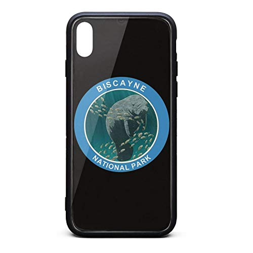Cool Phone Case for iPhone X Biscayne National Park Rubber Frame Tempered Glass Covers Pretty Shock-Absorbing Skid-Proof Never Fade Cell Cases Good