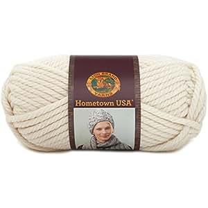 Lion Brand Yarn 135-098P Hometown USA Yarn, Houston Cream