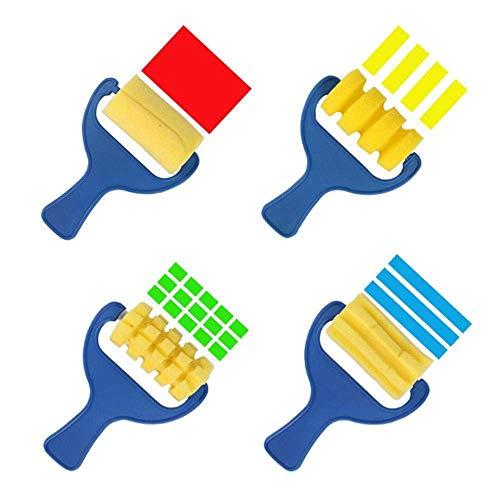 Toogoo スポンジペイントブラシ 子供用 4パック 早期学習 絵画用具 DIYアートクラフト用 ベソムブラシの商品画像