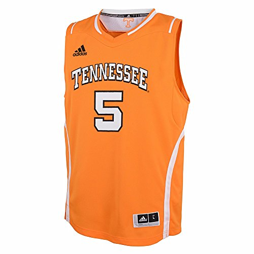 Tennessee Volunteers NCAA Adidas Orange Official Road Away Replica #5 Basketball Jersey For Youth (S)