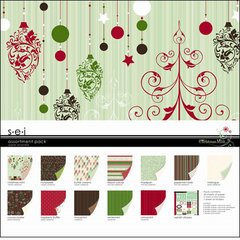 SEI Christmas Mint Assortment Pack, 24-Papers and 1-Die Cut Sheet by SEI