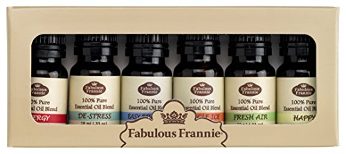 Fabulous Frannie Synergy Essential Oil Blend Basic Sampler Set, 100% Pure Therapeutic Grade-Great for Aromatherapy, 6/10ml