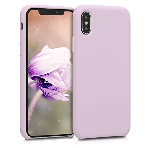 kwmobile TPU Silicone Case for Apple iPhone X - Soft Flexible Rubber Protective Cover - Mauve