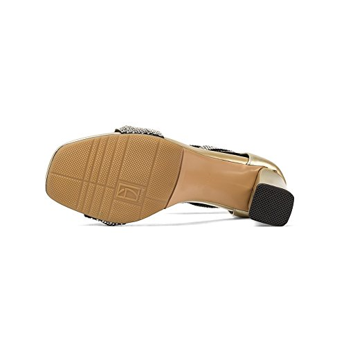 AN Womens Quilted Cold Lining Dress Urethane Sandals DIU00909 Gold N77Rbkv0