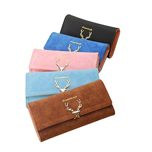 Fashion Women Long Wallet Female Long Trumpet Deer Head Fashion Tidal Style Scrub Multi-Card Wallet