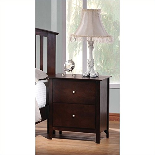 Coaster Home Furnishings 202082 Casual Contemporary Nightstand, Cappuccino Cappuccino Finish Wood Feet