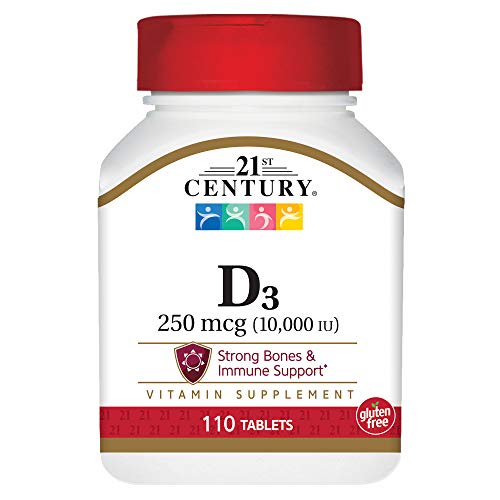 21st Century D3 10,000 Iu Tablets, 110 Count