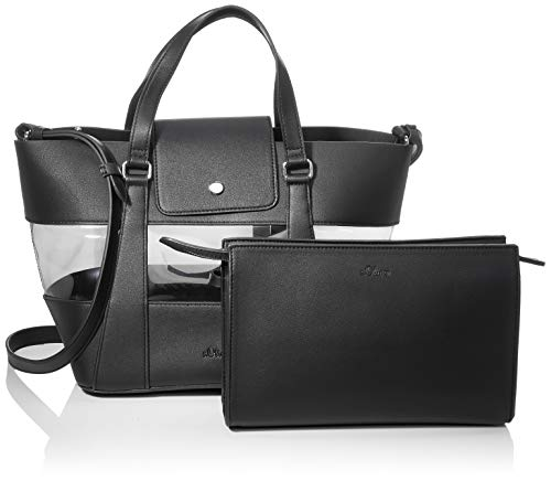 s.Oliver (väskor) dam 39.907.94.2492 axelväska, svart (svart), 16 x 23 x 35 cm