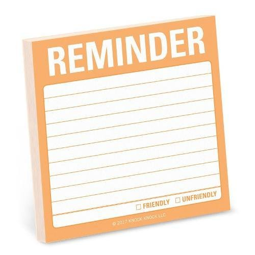 1-Count Reminder Sticky Notes, To Do List Sticky Notes, 3 x 3-inches each