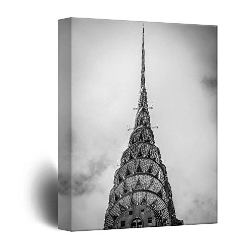 Exotic Tall Building in Black and White