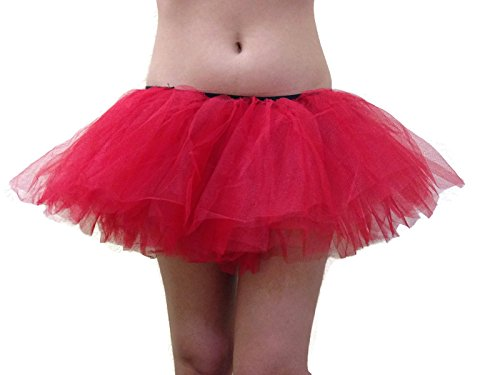 Teen Dance Costumes (Rush Dance Women's Organza Sexy Rave Costume Tutu (Adult, Red))