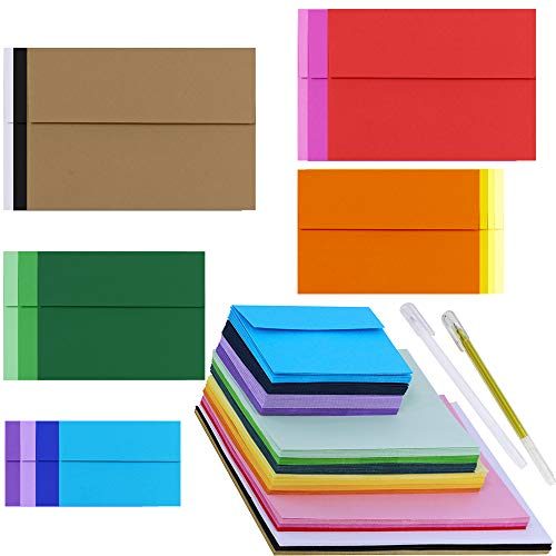 Supla 115 Pack A9 A7 A2 A4 Envelops and Mini Envelops Invitation Envelopes Business Envelopes Blank Envelopes Square Flap Envelopes for Wedding Birthday Photo Note Message Card Making Supplies ()