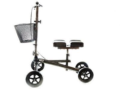 Knee Scooter Steerable W/handle Brake,Basket,Crutch Alternative Leg Pad By Healthline Trading
