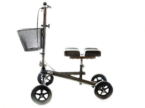 Knee Scooter Steerable W/handle Brake,Basket,Crutch Alternative Leg Pad By Healthline Trading by Healthline Trading