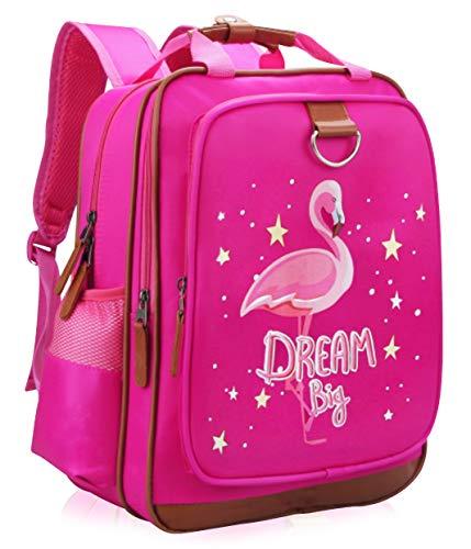Girls Backpack Pink Flamingo 15