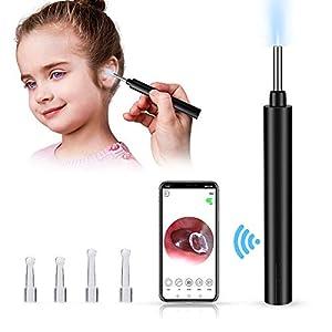Best Epic Trends 41B8t1UgisL._SS300_ Ear Cleaning Endoscope,Ear Wax Removal Tool,3.9mm Wireless Otoscope Ear Wax Removal Kit,1080P HD WiFi Ear Endoscope with…