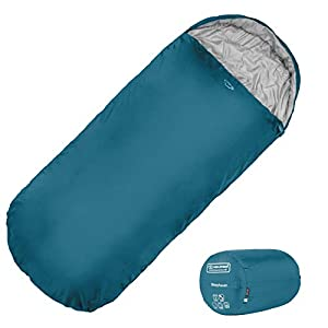 Highlander XL Sleeping Bag Extra Large Pod Design perfect for Camping, Sleepovers and Festivals – Lightweight Single Bags suitable for Adults and Juniors – The Sleephaven (Marine Blue)