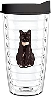 product image for Smile Drinkware USA-BLACK CAT 16oz Tritan Insulated Tumbler With Lid and Straw