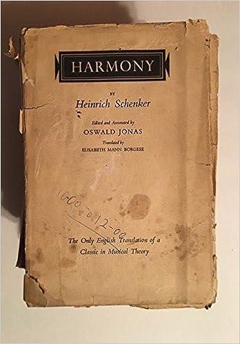 HEINRICH SCHENKER HARMONY DOWNLOAD