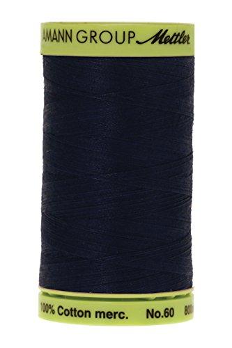 Mettler Fine Embroidery Thread - Mettler Silk-Finish Cotton Embroidery Thread, 875 yd, Black